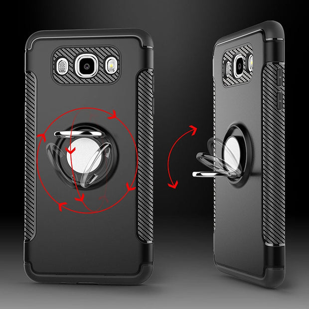 For Samsung J7 2016 Case Cover Luxury PC TPU Metal Magnet Case For Samsung Galaxy J7 2016 Cover Coque With Phone Holder