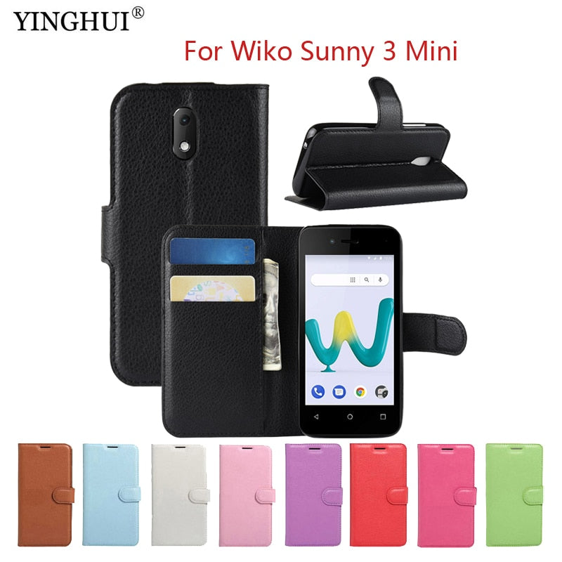 For Wiko Sunny 3 Mini Case Case Luxury Wallet PU Leather Phone Cases For  Wiko Sunny 3 Mini Case Flip Protective Back Cover