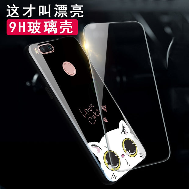 For Xiaomi Mi Note 3 A1 5X Mi6 Coque Silicone Shock Proof Luxury Slim Tempered Glass Cover For Xiaomi Mi Mix 2 Mix Evo Back Case