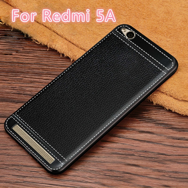 For Xiaomi Redmi 5A Case Luxury PU Leather Pattern High Quality Soft TPU Gel Protective Cover For Xiaomi Redmi 5A Mi 5A 5.0""