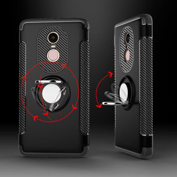 For Xiaomi Redmi Note 4 4X Case Hard Hybrid Plastic Case Combo Magnetic Ring Armor Case Cover For Xiomi Redmi Note 4X Case Capa