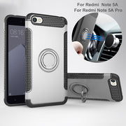 For Xiaomi Redmi Note 5A Case Funda Soft Silicone Hard PC Magnetic Ring Armor Coque Cover For Redmi Note 5A Pro Case Capas Cover