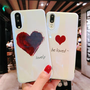 For Huawei Mate 20 Pro P20 Lite Pro Mate 10 Pro Honor 10 Nova 3 3i Phone Bag Case Love Heart Blue Ray Glossy Soft Silicon Shell