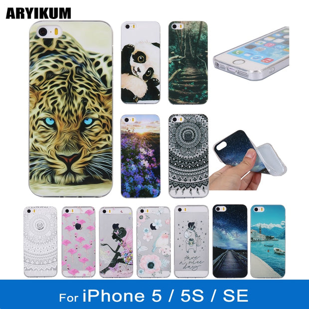 18d50b13d43a45 For IPhone 5SE Case Soft Silicone Transparent Case For IPhone 5 5S SE  PhoneAccessories Cover