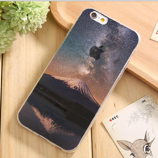 For IPhone7 Soft TPU Case Cover For Apple IPhone 7 Cases Phone Shell Best Design Painting Natural Scenery Sky Ocean Scenery