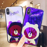 For Iphone 6 6S 7 8 Couple Bear Mobile Phone Shell For IPhone 6 6S 7 8 Plus For IPhone X XR XS MAX Funda Drop-proof Back Covers