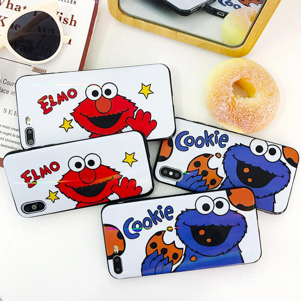 For Iphone 6 7 8 Couple Cartoon Anti-fall Soft Shell For IPhone 6S 7 8 Plus For IPhone X XR XS MAX Funda Drop-proof Back Covers
