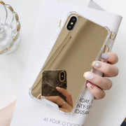 Four Corner Thickening Cover For IPhone X 6S Plus Case Silicon Plating Mirror Anti-Knock Case For IPhone 6 7 8 Plus Luxury Coque