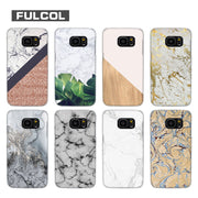 Fulcol Marble Pineapple Transparent Fashion Hard Case Cover For Samsung Galaxy S4 S5 S6 S7 S8 S9 Mini Edge Plus