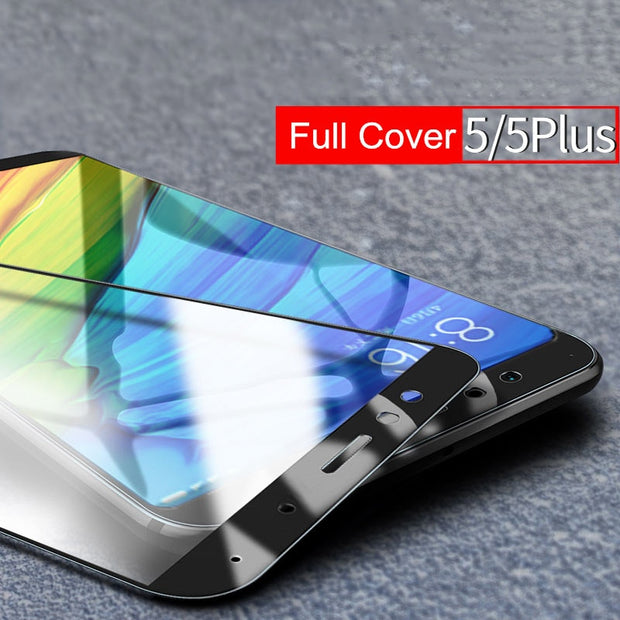 Full Cover Tempered Glass For Xiaomi Redmi Note 5 Plus 4 4a 4x 5A S2 Screen Protector Mi 8 SE 6 6X 5X 5C Mix 2S 2 + Back Film