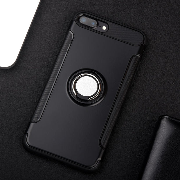 Funda For Iphone 7 Plus Case Coque For Iphone 7Plus Magnetic Ring Armor Cover For IPhone 7 Plus Phone Case Blak Etui Luxury Capa