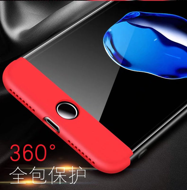 GKK 360 Degree Protection Luxury Phone Case 3 In 1 Ultra Thin Cover For IPhone 6/6S/6 Plus 7/7 Plus 8/8 Plus Anti-knock Hard PC