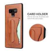 Genuine Leather Back Cover For Samsung Galaxy Note9 Note8 S8 S9 + Case With Card Slots Fundas +Gift Free Screen Protector Coque