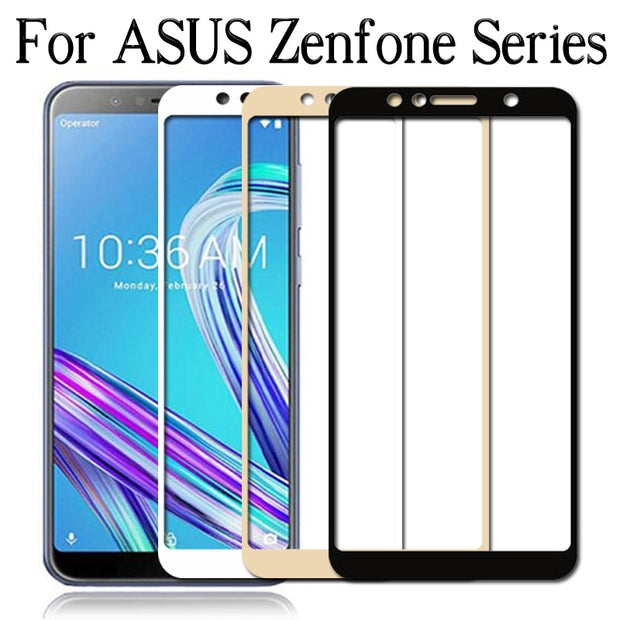 Glass For Asus Zenfone 4 Max ZC554KL ZC520KL M1 ZB555KL Pro Live ZA550KL 5 Lite ZC600KL Screen Protector On Protective Glas Case
