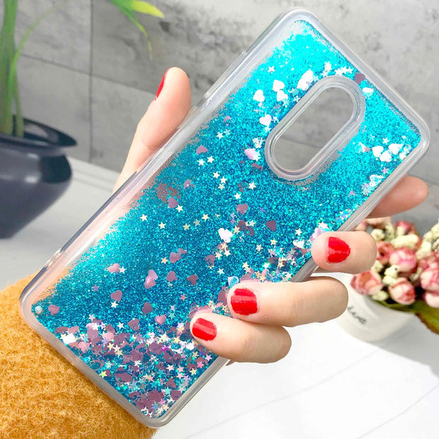 Glitter Liquid Case For Xiaomi Redmi Note 6 5 Pro Plus Case Silicone Phone Cases For Xiaomi Redmi Note 4 4X 6 5 Plus Case Cover