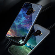 Glossy Space Planet Stars Case For Samsung Galaxy S8 S9 Luxury Luxury Glass Hard Back Cover For Samsung S8 S9 Plus Cases Coque