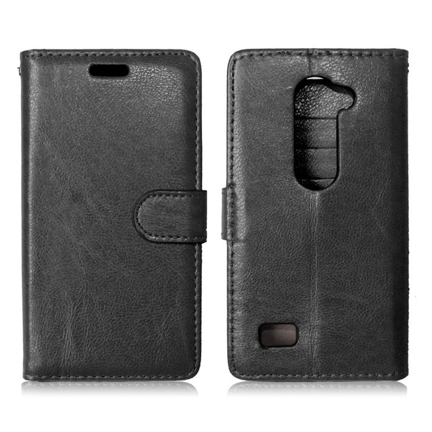 H340F Case For LG Leon 4G LTE H340 H324 H320 H340N H340Y H326T Flip Case Phone Leather Cover For LG Destiny L21G Tribute 2 LS665
