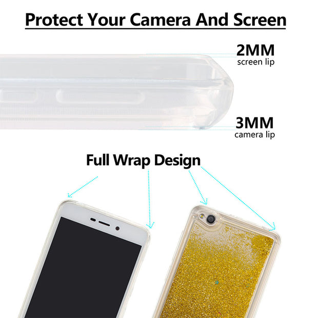 Half-wrapped For Xiaomi Redmi A4 Red Mi 4A For Xiaomi Redmi 4A Case 4 A Phone Bumper Fitted Case Frame Cover 3D TPU Soft Shell