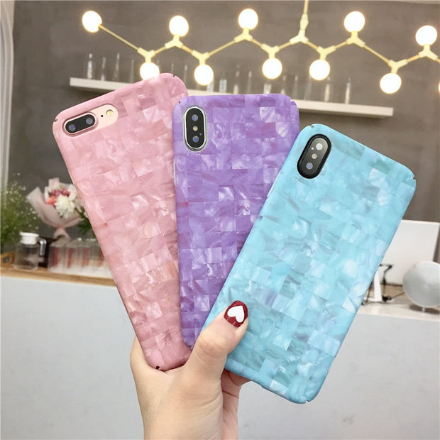 Hard PC Phone Case For Iphone 6 7 8 6s Plus X Fashion Smooth Marble Pattern Back Cover For Iphone 8 7 6 6S X Case Funda Coque