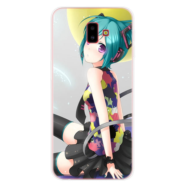 Hatsune Miku Phone Case For Samsung Galaxy J2 J3 J4 Plus J5 J6 Plus J7 J8 2018 Soft Silicone Cases Cover