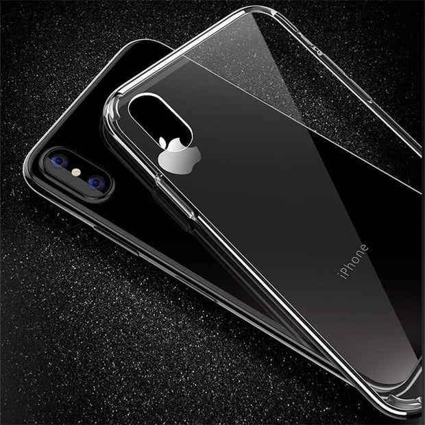 High Quality Clear Transparent Shell TPU Case For IPhone X Soft Silicone Air Cushion Cover Back For IPhone X Coque