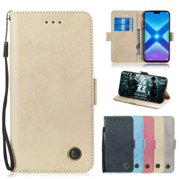 Honor 8X Leather Case On SFor Fundas Huawei Honor 8X Case FOR Coque Huawei  Honor8C 8 C Cat Flip Wallet Phone Case Cover Coque