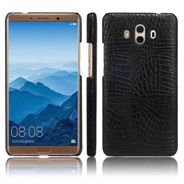 Huawei Mate 10 ,Mate 10 Phone Bag Luxury 3D Crocodile PU Leather Ultra-thin Hard Back Cover For Huawei Mate 10 Case