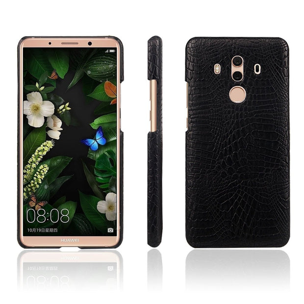 Huawei Mate 10 Pro Case, Mate 10 Pro Phone Bag Luxury 3D Crocodile PU Leather Ultra-thin Hard Back Cover For Huawei Mate 10 Pro