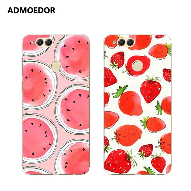 Huawei Honor 7x Case,Silicon Colorful Food Painting Soft TPU Back Cover For Huawei Honor 7x Phone Protect Case Shell