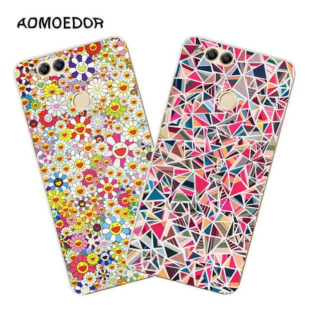 Huawei Honor 7x Case,Silicon Colorful Images Painting Soft TPU Back Cover For Huawei Honor 7x Phone Fitted Case Shell
