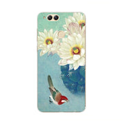 Huawei Honor 7x Case,Silicon Colorful Plant Painting Soft TPU Back Cover For Huawei Honor 7x Phone Protect Case Shell