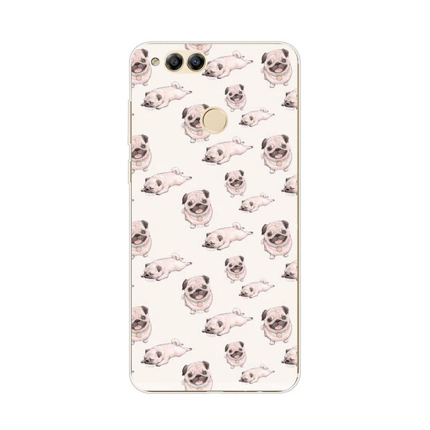 Huawei Honor 7x Case,Silicon Popular Whimsy Painting Soft TPU Back Cover For Huawei Honor 7x Phone Fitted Case Shell