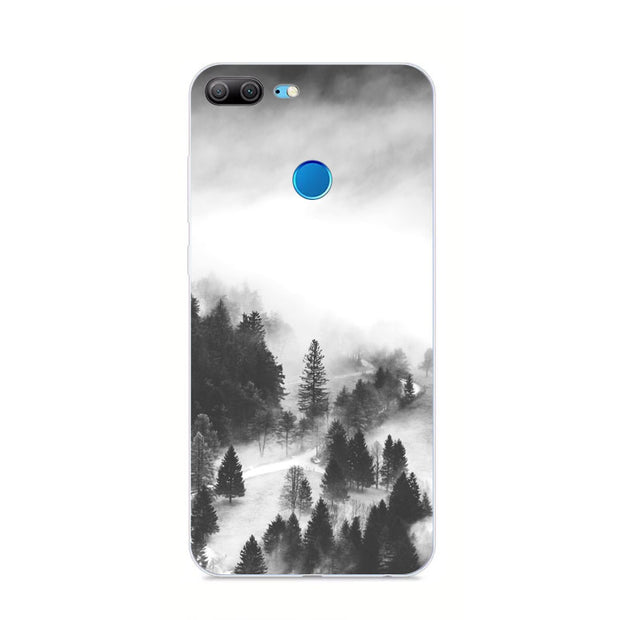 Huawei Honor 9 Lite Case,Silicon Scenery Painting Soft TPU Back Cover For Huawei Honor 9 Lite Phone Protect Bags Shell
