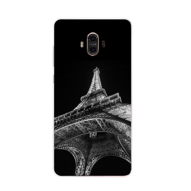 Huawei Mate 10 Case,Silicon Black Graffiti Painting Soft TPU Back Cover For Huawei Mate 10 Pro Phone Protect Case Shell