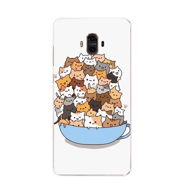 Huawei Mate 10 Case,Silicon Bubble Cat Painting Soft TPU Back Cover For Huawei Mate 10 Pro Phone Protect Case Shell