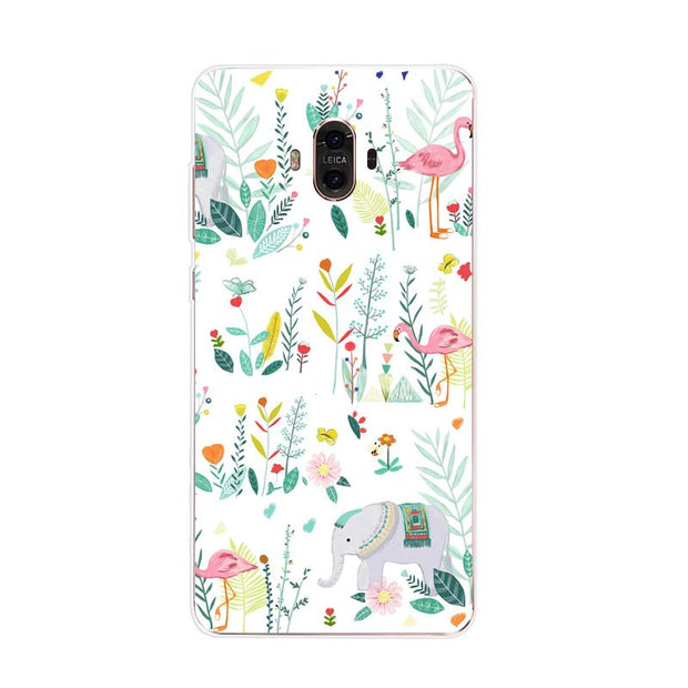 Huawei Mate 10 Case,Silicon Colorful Plant Painting Soft TPU Back Cover For Huawei Mate 10 Pro Phone Fitted Case Shell