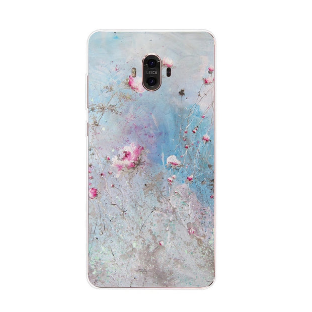 Huawei Mate 10 Case,Silicon Flowers Plant Painting Soft TPU Back Cover For Huawei Mate 10 Pro Phone Protect Case Shell