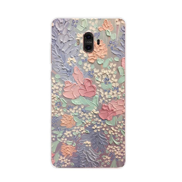 Huawei Mate 10 Case,Silicon Graffiti 3D Relief Painting Soft TPU Back Cover For Huawei Mate 10 Pro Phone Fitted Case Shell