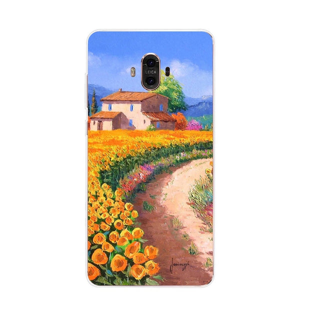 Huawei Mate 10 Case,Silicon Graffiti 3D Relief Painting Soft TPU Back Cover For Huawei Mate 10 Pro Phone Protect Case Shell