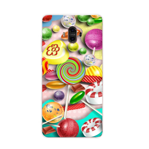 Huawei Mate 10 Case,Silicon Letter Expression Painting Soft TPU Back Cover For Huawei Mate 10 Pro Phone Fitted Case Shell