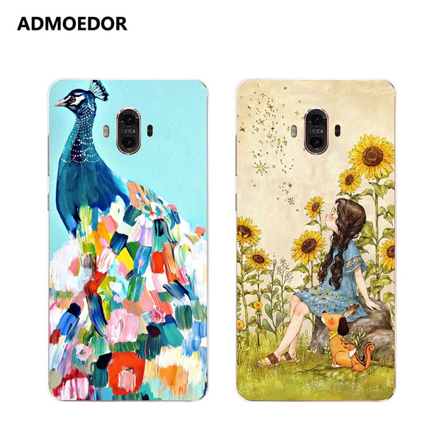 Huawei Mate 10 Case,Silicon Lifelike 3D Relief Painting Soft TPU Back Cover For Huawei Mate 10 Pro Phone Protect Case Shell