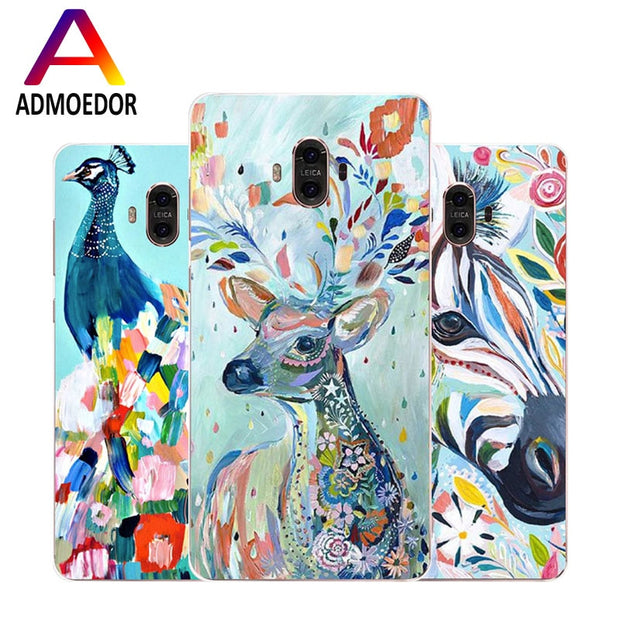 Huawei Mate 10 Case,Silicon Lifelike 3D Relief Painting Soft TPU Back Cover For Huawei Mate 10 Pro Phone Fitted Case Shell