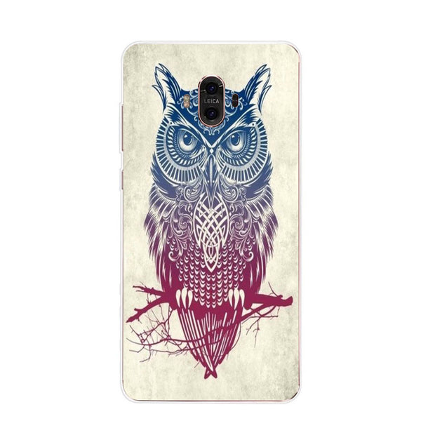 Huawei Mate 10 Case,Silicon Look Cat Painting Soft TPU Back Cover For Huawei Mate 10 Pro Phone Fitted Case Shell