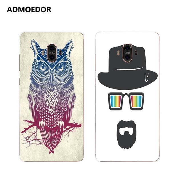 Huawei Mate 10 Case,Silicon Look Cat Painting Soft TPU Back Cover For Huawei Mate 10 Pro Phone Protect Case Shell