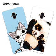 Huawei Mate 10 Case,Silicon Lovely Kitten Painting Soft TPU Back Cover For Huawei Mate 10 Pro Phone Fitted Case Shell
