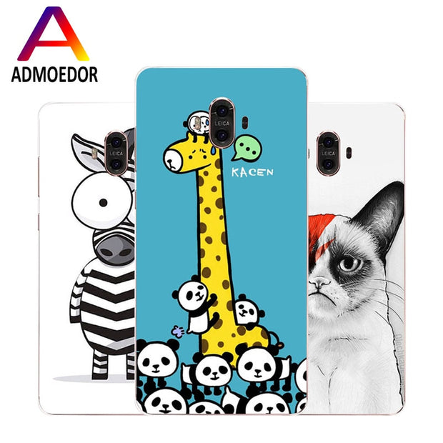 Huawei Mate 10 Case,Silicon Beautiful Cartoon Animal Painting Soft TPU Back Cover For Huawei Mate 10 Pro Phone Fitted Case Shell