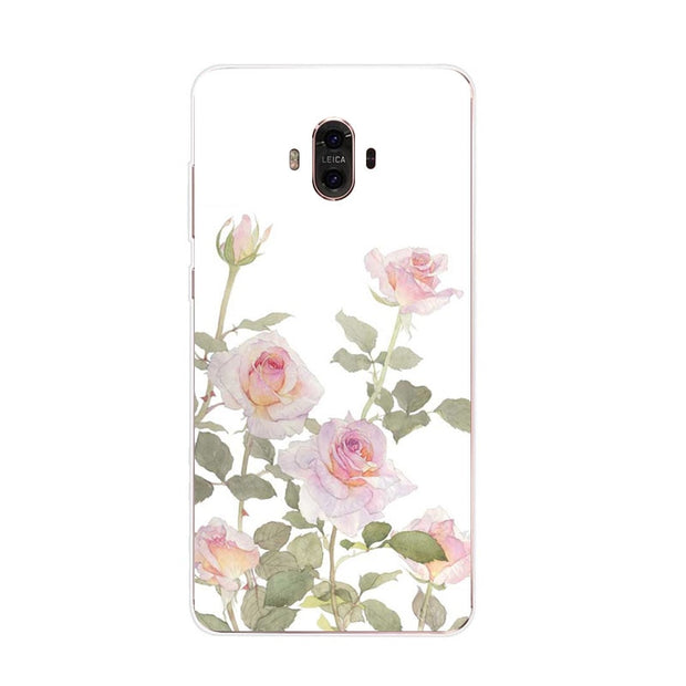 Huawei Mate 10 Case,Silicon Flowers 3D Relief Painting Soft TPU Back Cover For Huawei Mate 10 Pro Phone Fitted Case Shell