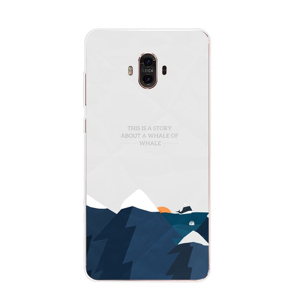 Huawei Mate 10 Case,Silicon Landscape Painting Soft TPU Back Cover For Huawei Mate 10 Pro Phone Fitted Case Shell
