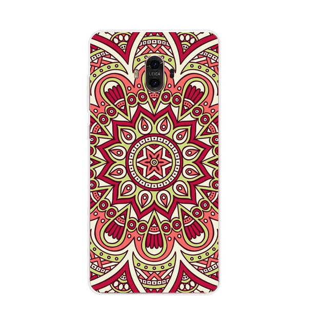 Huawei Mate 10 Case,Silicon Mandala Cartoon Painting Soft TPU Back Cover For Huawei Mate 10 Pro Phone Fitted Case Shell