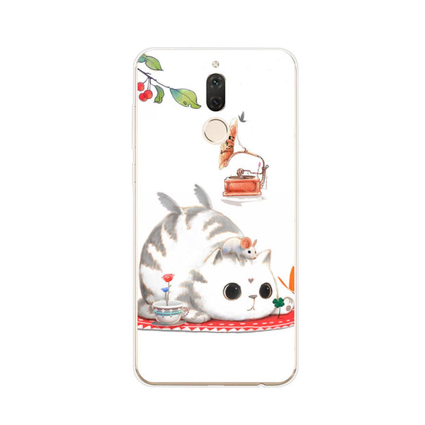 Huawei Nova 2i Case,Silicon Bubble Cat Painting Soft TPU Back Cover For Huawei Nova 2I Phone Fitted Case Shell